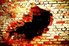 Dziura w ścianie Obraz Royalty Free