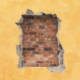 Dziura w ścianie Fotografia Stock