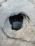 Dziura w drodze Obrazy Royalty Free