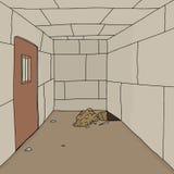 Dziura w Kamiennym więzieniu Zdjęcie Stock