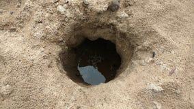 Dziura w piasku Zdjęcia Royalty Free