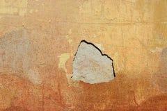 Dziura w tynk ścianie Zdjęcie Royalty Free