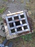 Dziura w ziemi obraz stock