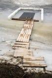 Dziura z rampą, robić dla pływać podczas chrzczenia obraz stock