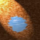 dziury ceglana ściana Zdjęcie Stock