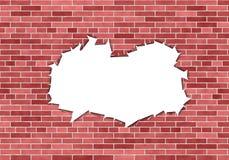 dziury ceglana ściana Obrazy Stock