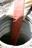 dziury drenażowy wąż elastyczny fotografia royalty free