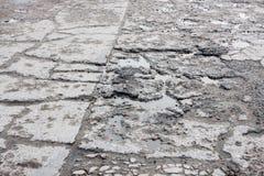 Dziury drogowe dla samochodów Zdjęcie Royalty Free