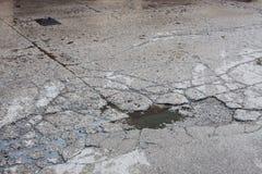 Dziury drogowe dla samochodów Obraz Stock
