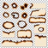 Dziury i palić krawędzie papieru prześcieradło składają wektor ilustracja wektor