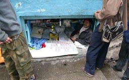 dziury ind sklepowa sikkhim ściana Zdjęcia Stock