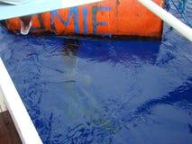 dziwactw payaos używać artisanal handline rybołówstwem dla tuńczyka żółtopłetwowy tuńczyka w Filipiny zdjęcia stock