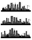 pejzaż miejski linia horyzontu x 3 Zdjęcie Stock