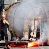Dziwaczna dymienie maszyna Zdjęcie Royalty Free