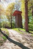Dziwaczna i bezużyteczna głupota w kibla parku lokalizować w Apeldoorn obrazy royalty free