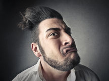 Dziwaczna mężczyzna twarz zdjęcia stock