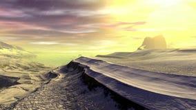 Dziwaczna planeta Skały i deszcz animacja 4К zbiory wideo