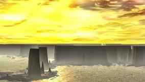 Dziwaczna planeta Skały i jezioro animacja 4К zbiory wideo
