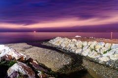 Dziwaczny Afterglow Po zmierzchu W Cinarcik, Turcja - Zdjęcie Royalty Free