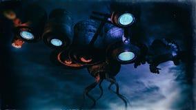 Dziwaczny Obcy Astronautycznego statku pojęcie ilustracja wektor