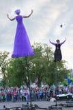 Dziwaczny Owocowy przedstawienie przy festiwalem (Australia) Obraz Stock