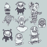 dziwaczny set ilustracji