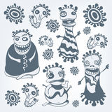 dziwaczny set royalty ilustracja