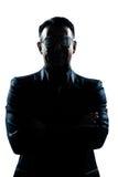 dziwaczny szkło biznesowy mężczyzna Obrazy Royalty Free