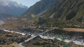 Dziwka Valle w góry Cook parku narodowym zbiory wideo