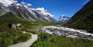 Dziwki doliny ślad, góra Cook, Nowa Zelandia Obraz Stock
