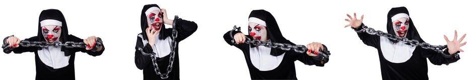 Dziwna żeńska magdalenka z szaklami odizolowywać na bielu zdjęcie royalty free