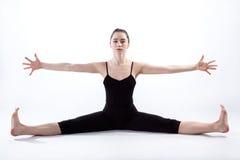 Dziwna gimnastyczki poza obraz royalty free