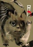 Dziwny abstrakcjonistyczny zwierzę nad beżowym tłem obrazy stock