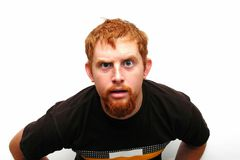 dziwny wyraz twarzy Fotografia Royalty Free