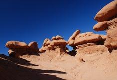 Dziwożona stanu parka Hoodoo Dolinne skały Fotografia Stock