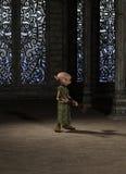 Dziwożony Czeladna dziewczyna z miotłą Obraz Royalty Free