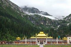 Dzogchen修道院在藏东 库存照片