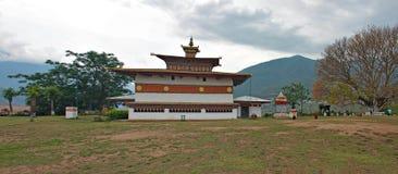 Dzong在不丹 免版税库存图片