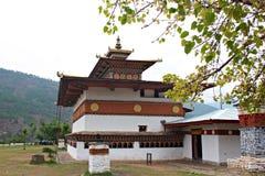 Dzong в Бутане стоковое изображение