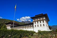 廷布Dzong 图库摄影