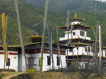 Dzong bouddhiste - Thimphou - le Bhutan Photo stock