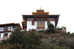 A Dzong on the hill Royalty Free Stock Photo