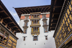 The dzong of Paro Royalty Free Stock Photography