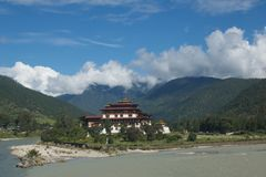 dzong punakha Obraz Stock