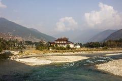 Dzong Punakha Fotografia Royalty Free