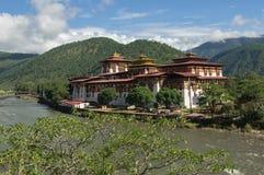 Dzong Punakha стоковые фотографии rf