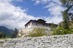 Dzong Rinpung Большие монастырь и крепость Drukpa Kagyu буддийский Paro стоковые фото