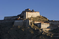 The Dzong in Tibet Stock Photography