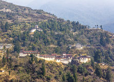 The dzong of Trongsa Royalty Free Stock Image