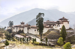 The dzong of Trongsa Royalty Free Stock Photos
